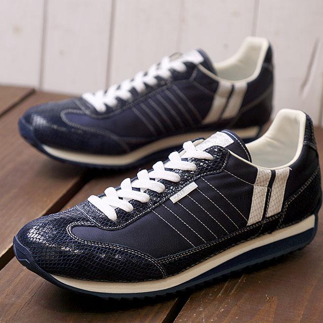 【即納】【返品送料無料】パトリック PATRICK スネーク+マラソン S+MARATHON メンズ レディース スニーカー 靴 ネイビー N/W (530942 FW18Q4)【コンビニ受取対応商品】