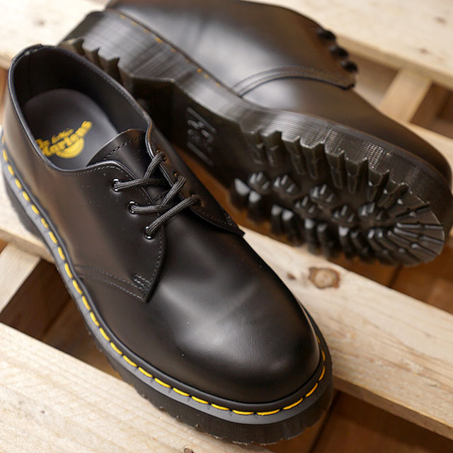 540cbbb74c3c6b Doctor Martin Dr.Martens 3 hall shoes Beck soot mousse 1461 BEX SMOOTH men  gap ...