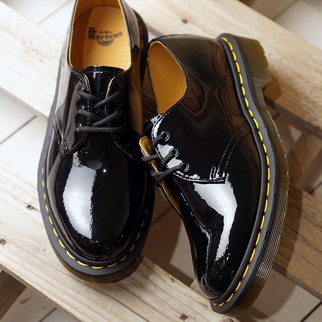 Qualität und Quantität zugesichert großer Diskontverkauf 2019 rabatt verkauf Doctor Martin Dr.Martens 3 hall shoes patent orchid soft-headed 1461 PATENT  LAMPER men gap Dis shoes BLACK (10084001 SS19)