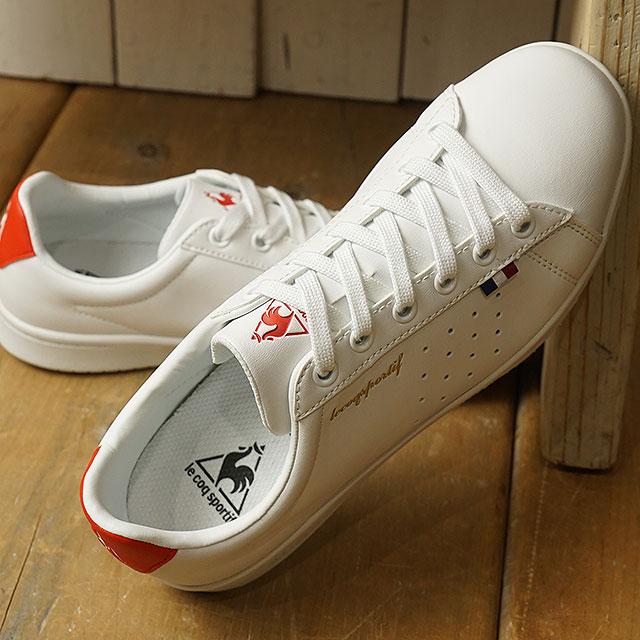 ルコック le coq sportif LA ローラン SL LA ROLAND SL レディース スニーカー 靴 ホワイト/レッド (QL1NJC08WR-161 SS19)【ts】