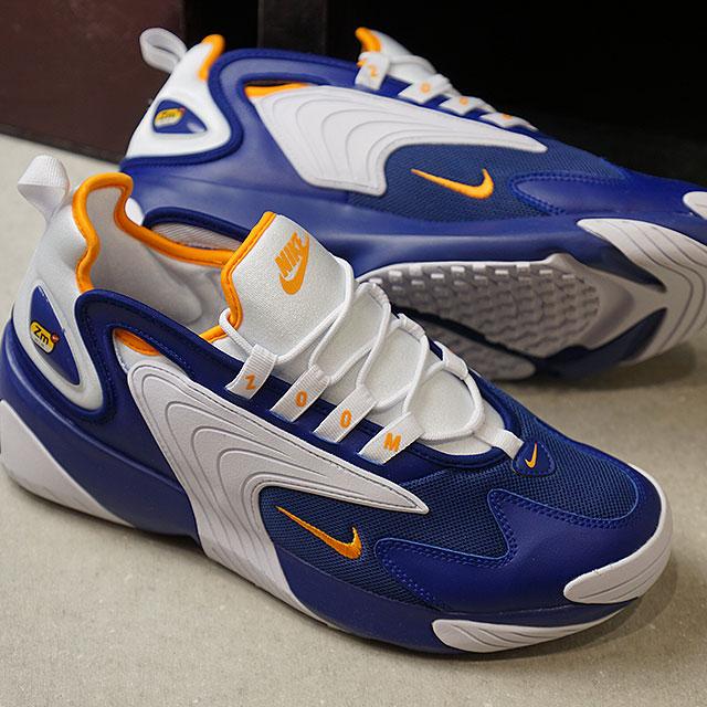 wykwintny styl dobry nowe promocje Nike NIKE 2000, Laon RUN 2000 men's sneakers shoes deep royal blue / orange  peel / white (AO0269-400 SS19)