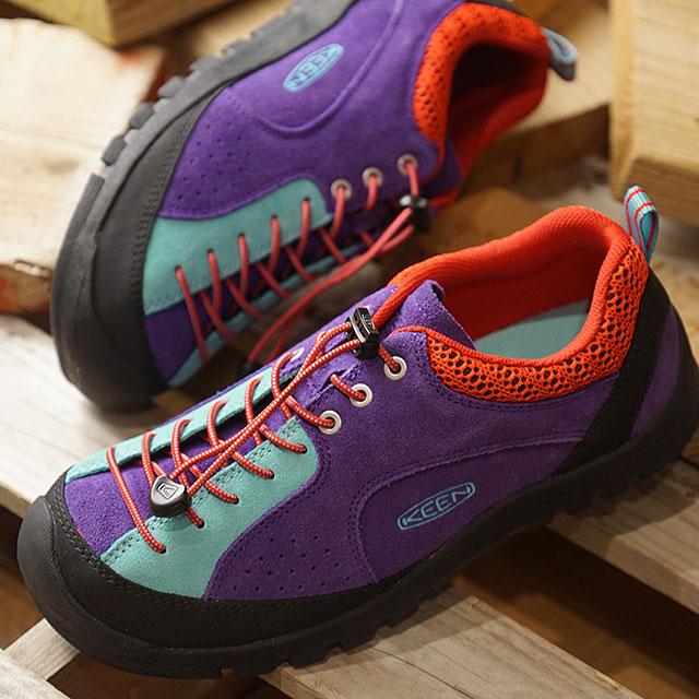 """【即納】キーン KEEN メンズ ジャスパー ロックス エスピー MEN JASPER """"ROCKS"""" SP アウトドア スニーカー 靴 Grape Royal/Jefferson (1020711 SS19)"""