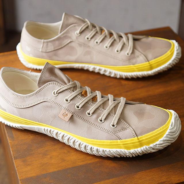 【即納】【返品送料無料】スピングルムーブ SPINGLE MOVE 日本製 ジャガード テキスタイル SPM-290 メンズ スピングルムーヴ スニーカー 靴 Yellow Beige (SPM290-159 SS19)