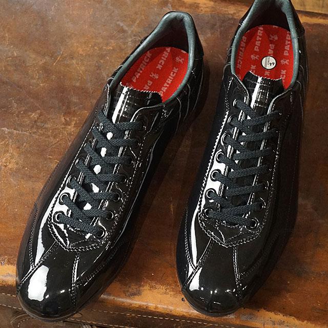 【即納】【返品送料無料】パトリック PATRICK ダチア・エナメル DATIA-EN メンズ レディース 日本製 スニーカー 靴 ブラック系 BB (29191 SS19)【コンビニ受取対応商品】