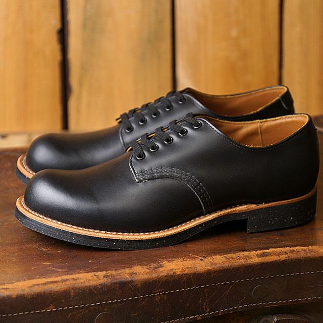 レッドウィング シューズ RED WING 8054 フォアマン・オックスフォード FOREMAN OXFORD メンズ レディース REDWING SHOSE ブーツ 靴 BLACK CHROME ブラック系 (8054 SS19)