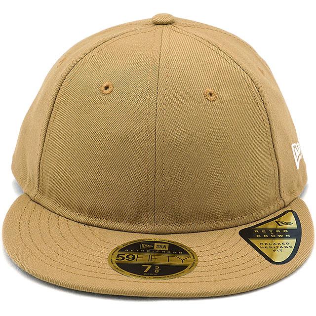 SHOETIME  New gills cap NEWERA CAP 59FIFTY nostalgic crown flat visor Retro  Crown Flat Visor men gap Dis hat WHEAT beige system (11924720 FW18)  32c64214e00