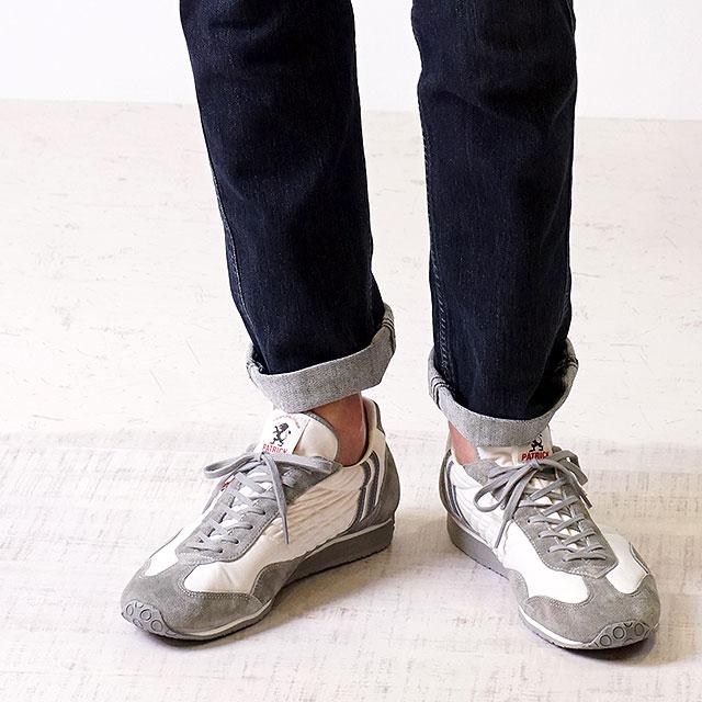 【月間優良ショップ】【ノベルティプレゼント】【返品送料無料】PATRICK パトリック スニーカー STADIUM スタジアム メンズ・レディース 日本製 靴 WH/GY ホワイト/グレー (23130)