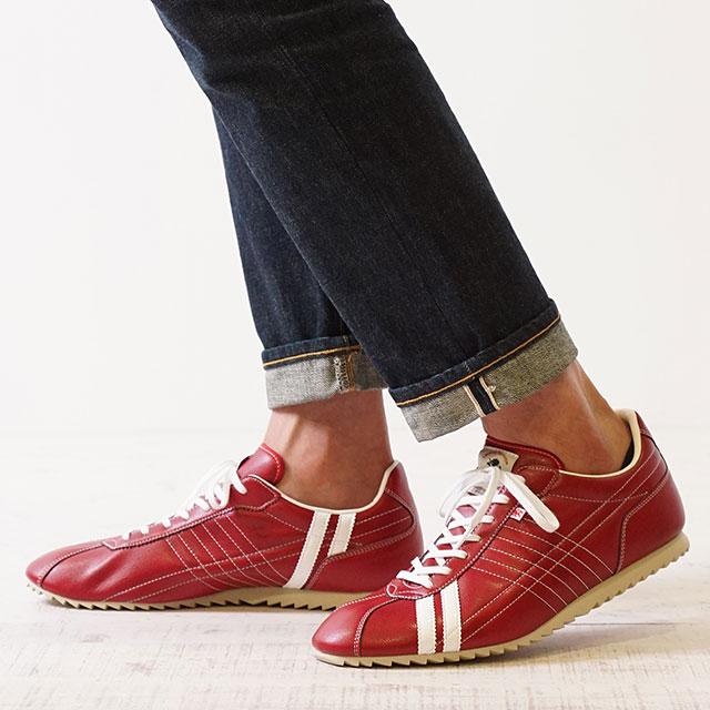 【月間優良ショップ】【あす楽対応】【返品送料無料】パトリックスニーカー 日本製 靴 PATRICK SULLY パトリック シュリー RGE レッド系 (26257)