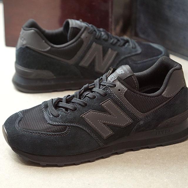 【月間優良ショップ】ニューバランス newbalance ML574 メンズ・レディース Dワイズ スニーカー 靴 ALL BLACK ブラック系 (ML574ETE FW19)【ts】