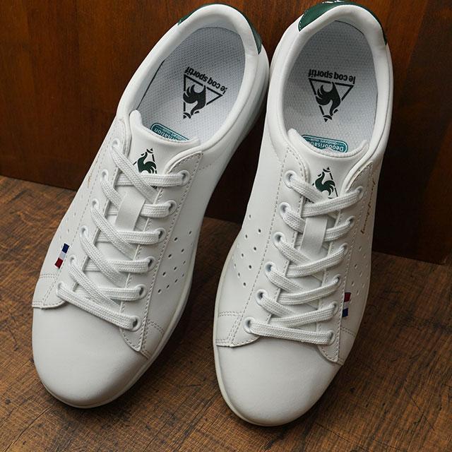 ルコック スポルティフ le coq sportif LA ローラン SL メンズ・レディース スニーカー 靴 ホワイト/グリーンホワイト系 (QL1OJC57WG FW19)【ts】