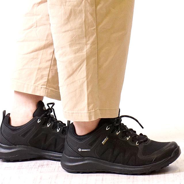 【月間優良ショップ】【サイズ交換無料】キーン KEEN レディース エクスプロアー ウォータープルーフ W EXPLORE WP アウトドア 防水 トレッキングシューズ ハイキング スニーカー 靴 Black/Star White ブラック系 (1021661 SS19)