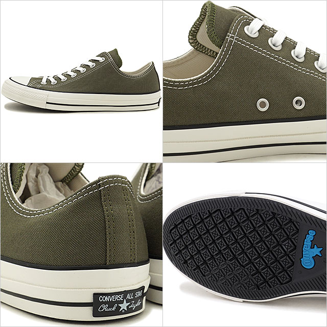 Converse CONVERSE all stars 100 colors low frequency cut ALL STAR 100 COLORS OX (OLIVE khaki system) (31300342 FW19)