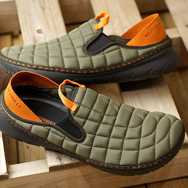 【即納】メレル MERRELL メンズ ハット モック M HUT MOC キャンプモック アウトドア ライフスタイルシューズ スニーカー 靴 OLIVE カーキ系 (J17125 FW19)