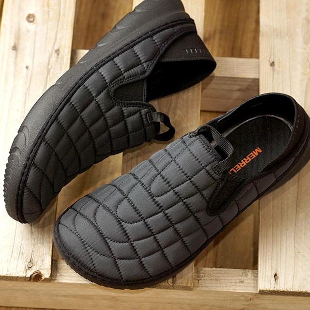 【即納】メレル MERRELL メンズ ハット モック M HUT MOC キャンプモック アウトドア ライフスタイルシューズ スニーカー 靴 TRIPLE BLACK ブラック系 (J90731 FW19)