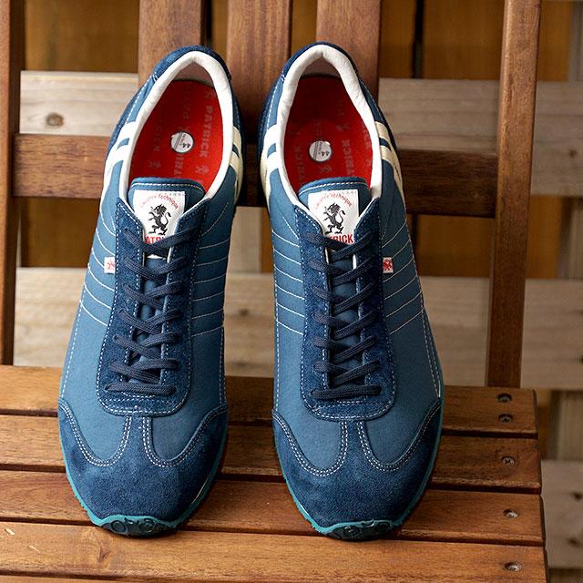 【あす楽対応】【返品送料無料】パトリック PATRICK スニーカー アイリス・オニベジ IRIS-OB メンズ レディース 日本製 靴 BLU ブルー系 (501632 FW19)
