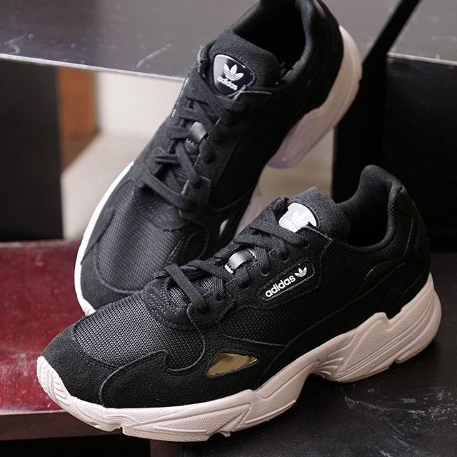 Adidas originals adidas Originals Lady's falcon women FALCON W ダッドシューズスニーカー  shoes core black / core black black system (B28129 FW19)