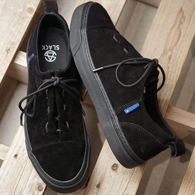 スラック SLACK エンラップ ENWRAP メンズ レディース スニーカー 靴BLACK/BLACKブラック系 (SL1674-003 FW19)