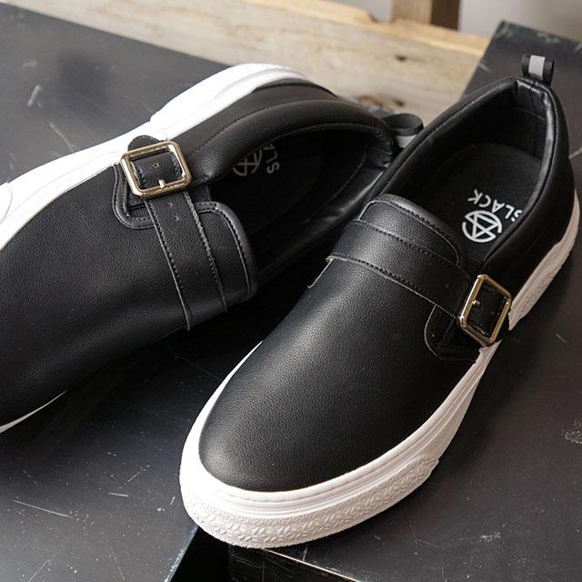 【12/31 14時まで!ポイント10倍】スラック SLACK ソロモンク SOLOMONK メンズ レディース スニーカー 靴BLACK/WHITEブラック系 (SL1635-001 FW19)