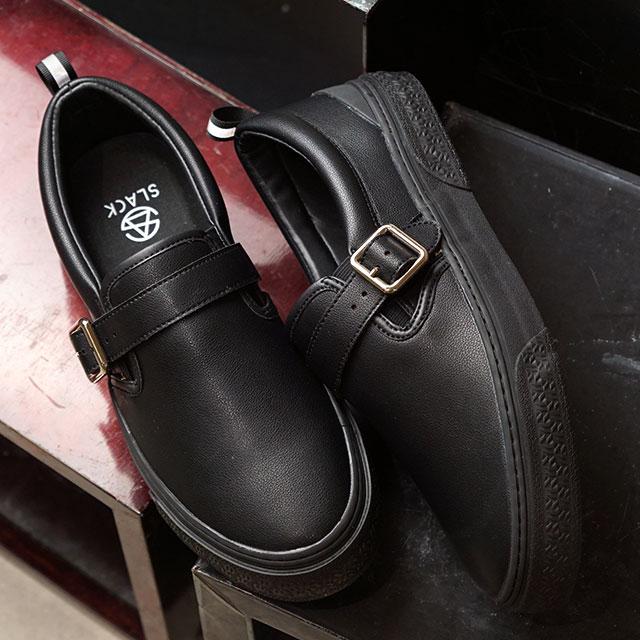 スラック SLACK ソロモンク SOLOMONK メンズ レディース スニーカー 靴BLACK/BLACKブラック系 (SL1635-003 FW19)【ts】