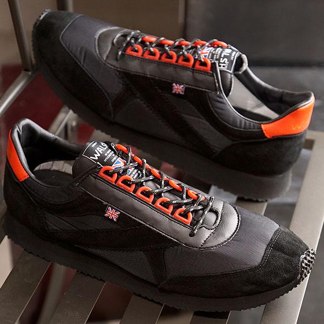 ウォルシュ WALSH メンズ 英国製 ボイジャー SP Voyager SP スニーカー 靴 BLK/RED ブラック系 (VOY50019 FW19)【ts】【e】