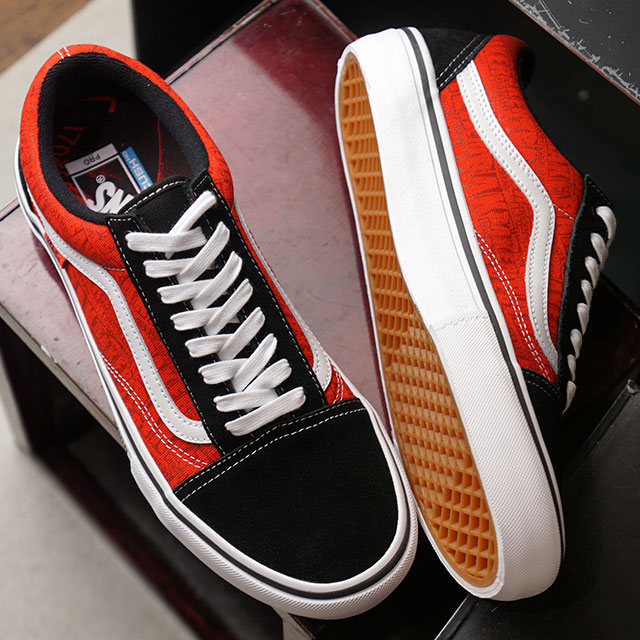 Vans X Baker VANS X BAKER old school pro OLD SKOOL PRO  メンズレディースヴァンズスケシュースニーカー shoes BLACK/WHITE/RED red system (VN0A45JCUZV FW19)