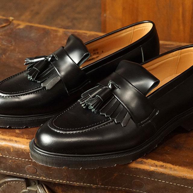 ソロヴェアー SOLOVAIR メンズ 英国製 タッセル ローファー ハイシャイン TASSEL LOAFER HI-SHINE ドレスシューズ 靴 BLACK ブラック系 (31040 FW19)【ts】【e】