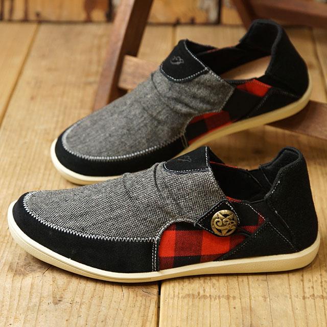 【12/31 14時まで!ポイント10倍】インディアン Indian モカシン イパイ Ipai メンズ・レディース スニーカー 靴 BLACK ブラック系 (IND-12512/IND-11512 FW19)