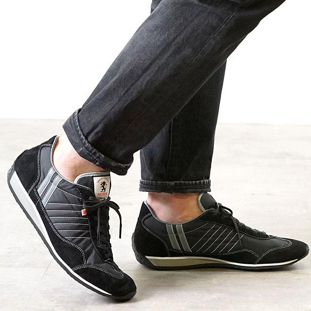 【月間優良ショップ】【ノベルティプレゼント】【返品送料無料】パトリック PATRICK スニーカー STADIUM スタジアム メンズ・レディース 日本製 靴 BLK ブラック 黒 (23011)