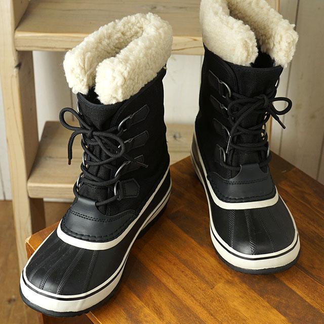 ソレル SOREL レディース ウィンターカーニバル WINTER CARNIVAL メンズ・レディース スノーブーツ ウィンター アウトドア 防寒靴 黒/STONEブラック系 (NL3483-011 FW19)