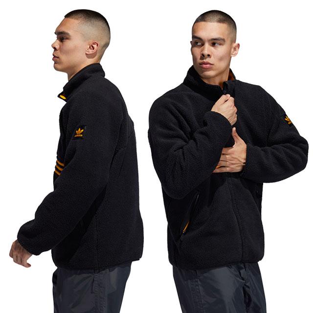 アディダス スケートボディング adidas Originals メンズ フリースジャケット シェルパ フルジップ SHERPA FULL ZIP アディダス オリジナルス ブラック系 (GEO90/FM7301 FW19Q4)【ts】【e】