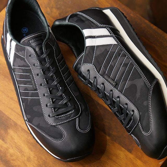 【あす楽対応】【返品送料無料】パトリック PATRICK スニーカー マラソン・カモフラージュ MARATHON-CF メンズ・レディース 日本製 靴 BK ブラック系 (501731 FW19Q4)