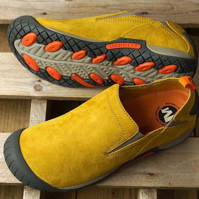 【月間優良ショップ】メレル MERRELL スニーカー パスウェイ モック M PATHWAY MOC (66337 FW19) メンズ スリッポン アウトドア 靴 HONEY イエロー系