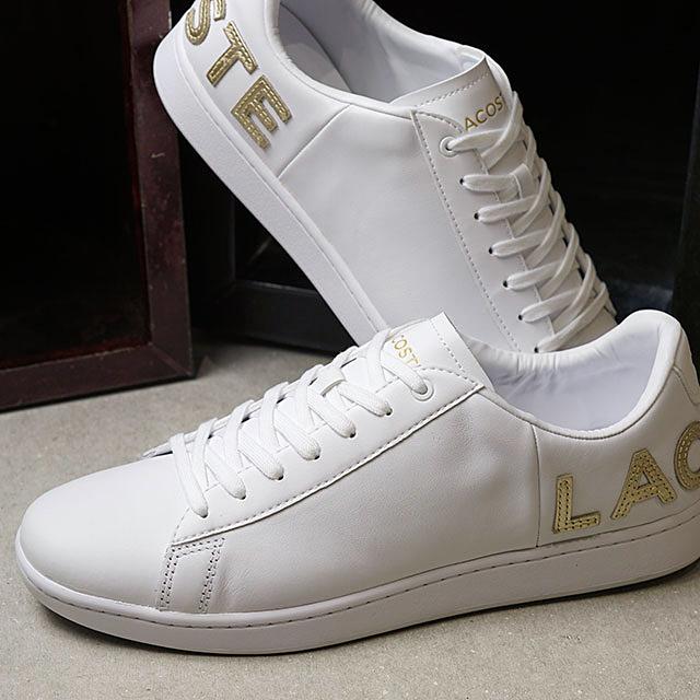 ラコステ LACOSTE スニーカー カーナービー エヴォ M CARNABY EVO 0120 5 (SM00860-216 FW20) メンズ ローカットシューズ 靴 WHT/GLD ホワイト系
