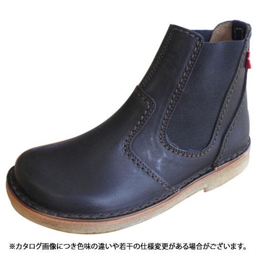 duck feet ダックフィート(DUNSKE ダンスク) DN4650 レザーサイドゴアブーツ ブラック(DN4650009 SS13)【コンビニ受取対応商品】