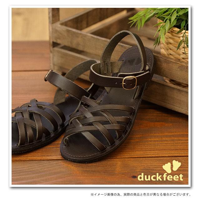 【在庫限り】duck feet ダックフィート(DUNSKE ダンスク) DN0100 レザーサンダル 靴 チョコ(DN0100209 SS13)【ts】【コンビニ受取対応商品】