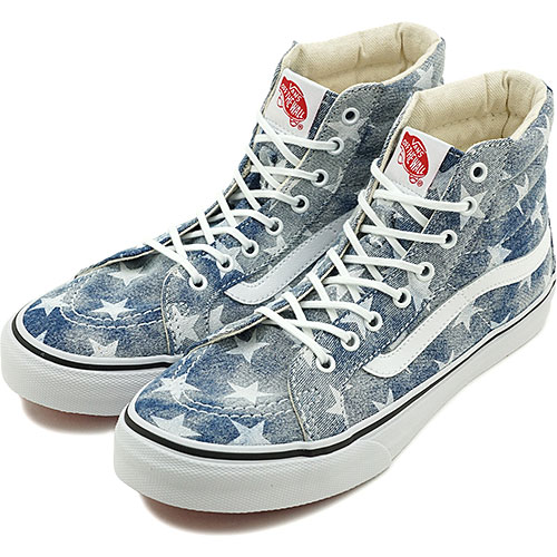 38ef8369272b53 □□VANS vans sneakers CLASSICS SK8-HI SLIM クラシックススケートハイスケハイ (WASHED) STARS  BLUE (VN-0XH7DVD FW14) shoetime