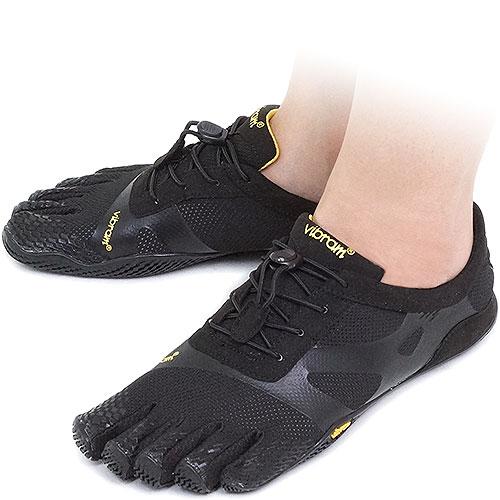 Vibram FiveFingers ビブラムファイブフィンガーズ レディース KSO EVO Black ビブラム ファイブフィンガーズ 5本指シューズ ベアフット靴 (14W0701)