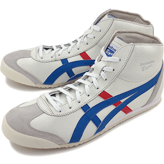 timeless design 42790 edf00 ONITSUKA TIGER onitsuka tiger MEXICO MID RUNNER WHITE BLUE THL328-0142