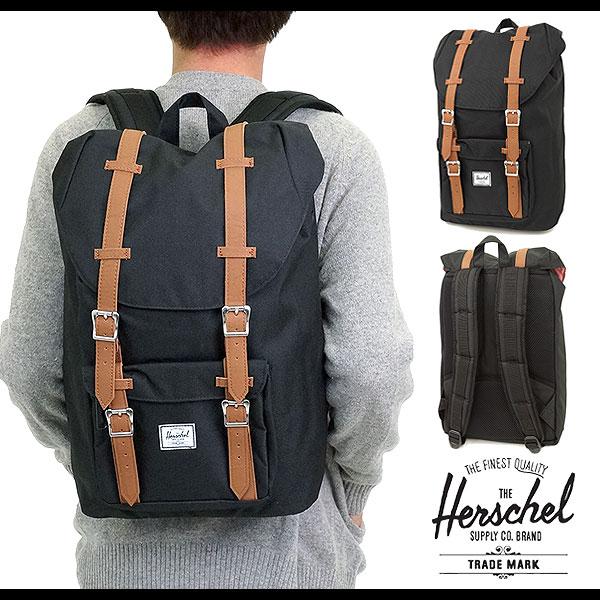 2b0c71de141d Shoetime Rakuten Global Market Herschel Supply. Herschel Supply Co Little  America Black 11l Mid Volume Backpack