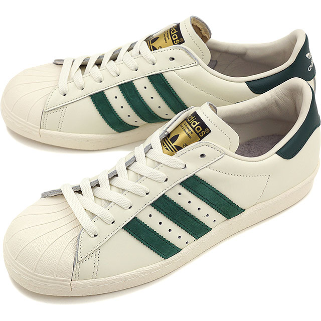 adidas Originals Adidas originals sneakers SUPERSTAR 80s VINTAGE DX superstar eighty vintage DX vintage white S15/ college eight green / off-white ...