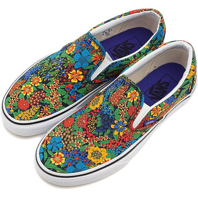 538b4a631e VANS vans sneakers men gap Dis CLASSICS CLASSIC SLIP-ON classical music slip -on (LIBERTY) MULTI FLORAL TRUE WHITE (VN-0ZMRFHJ SS15) shoetime