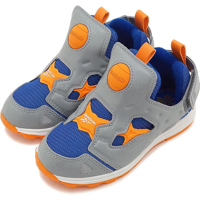 609e1f507e5 Reebok Reebok kids  amp  baby sneakers VERSA PUMP FURY SYN Vasa pump fury  SYN flat grey and College Royal and bright orange and white ( M48779 SS15 )