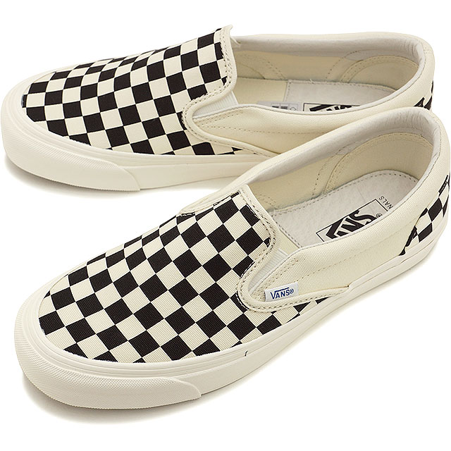 ebb6f6a776 VANS vans sneakers men gap Dis VAULT OG CLASSIC SLIP ON LX classical music  slip-on LX (CANVAS) BLACK WHITE CHECKERBOARD (VN-0UDFF8L SS15) shoetime