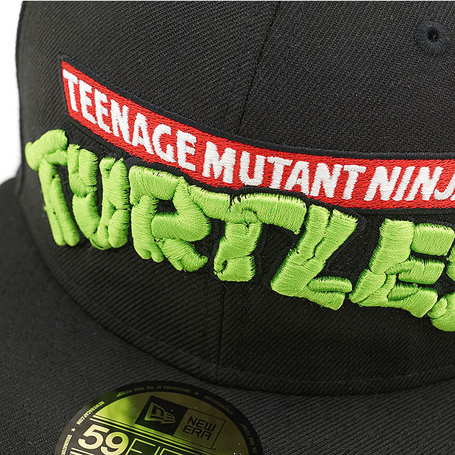 e957c4f635f NEW ERA new era Cap men women 59FIFTY NINJA TURTLES mutant turtles BLK WHT  (11134242 SS15)