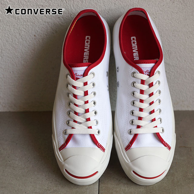 CONVERSE Converse sneakers JACK PURCELL SF PIPING Jack Pursel SF piping white red (32262351 SS15SP2) [Converse] shoetime
