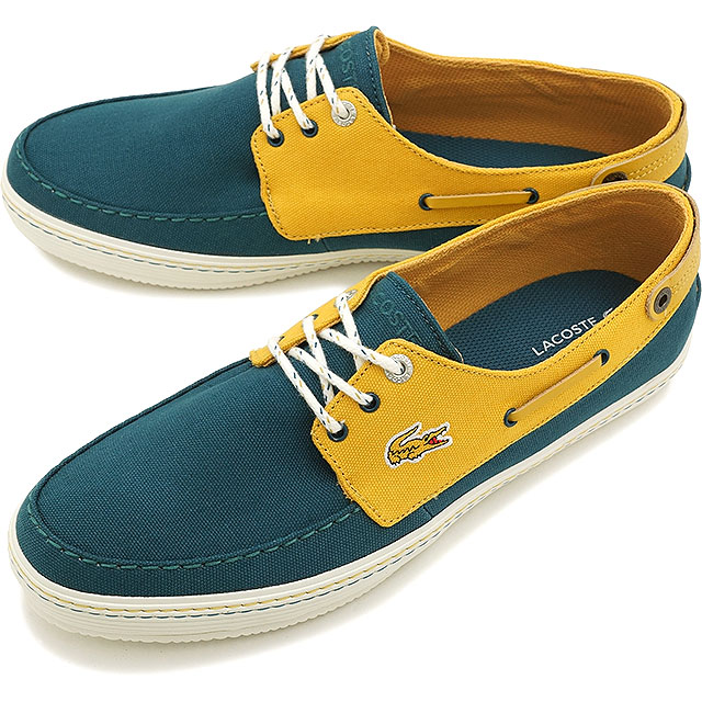 ab5a480b3 LACOSTE Lacoste mens Sneakers Shoes deck SUMAC 8 DBL YL (MSF406-250 SS15Q2)