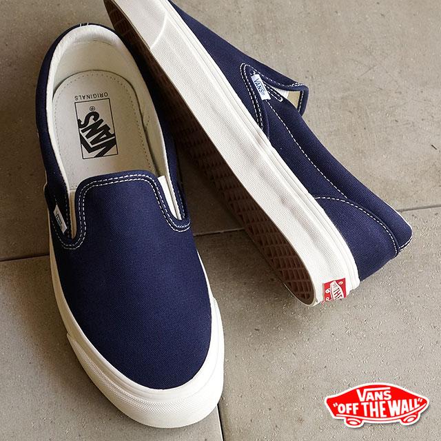 2dbb3a593fd VANS vans sneakers men gap Dis VAULT OG CLASSIC SLIP ON LX classical music  slip-on LX (CANVAS) PEACOAT (VN-0UDFF9L SS15) shoetime