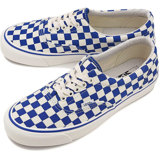 vans checkerboard blue white