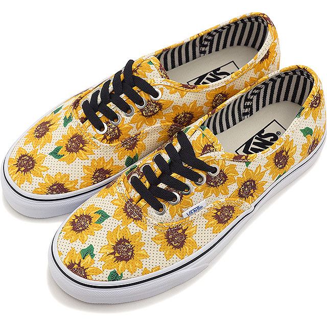b443af1d05733b VANS vans sneakers mens Womens CLASSICS AUTHENTIC authentic (SUNFLOWER)  TRUE WHITE (VN-0ZUKFN0 SS15)