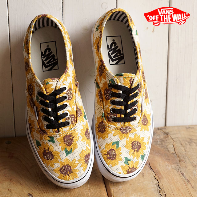 VANS vans sneakers mens Womens CLASSICS AUTHENTIC authentic (SUNFLOWER) TRUE  WHITE (VN-0ZUKFN0 SS15) 40820c770